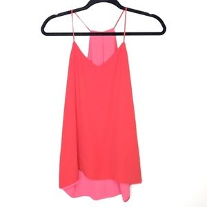 Express Reversible Red & Pink Keyhole Cami Blouse